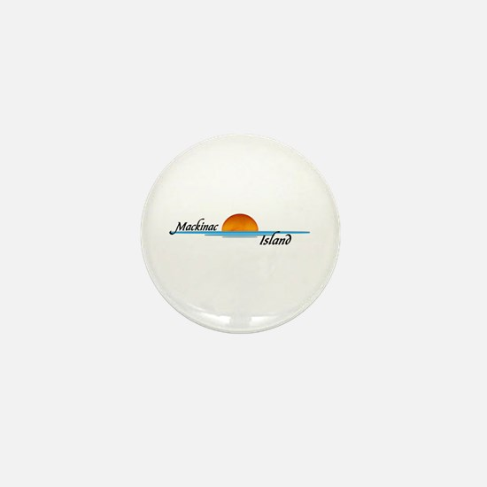 Mackinac Island Sunset Mini Button