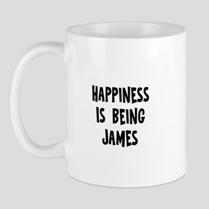Happiness is being James Mug