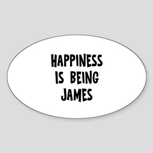 Happiness is being James Oval Sticker