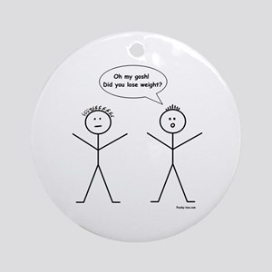 Stick Figure Weight Loss Ornament (Round)