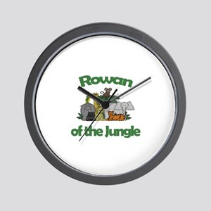 Rowan of the Jungle Wall Clock
