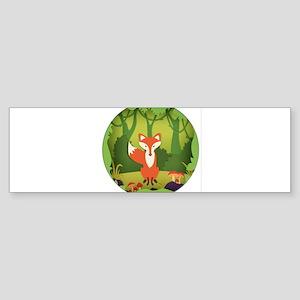 Fox in the Forest. Bumper Sticker