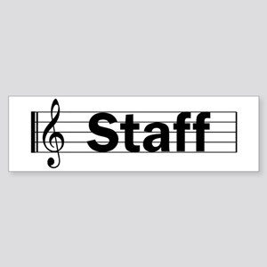 Music Staff Bumper Sticker