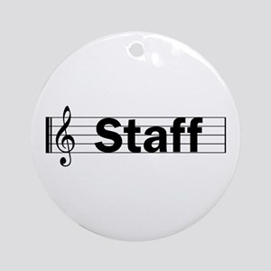 Music Staff Ornament (Round)