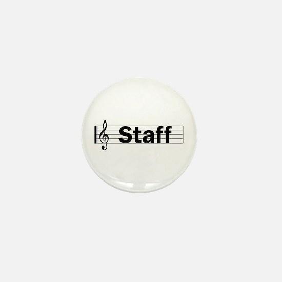 Music Staff Mini Button