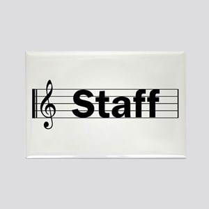 Music Staff Rectangle Magnet