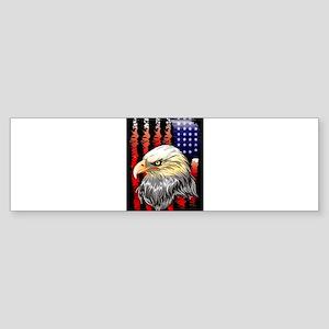 American Eagle Stars and Stripes Fl Bumper Sticker