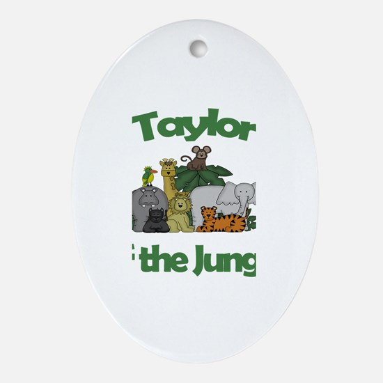 Taylor of the Jungle Oval Ornament