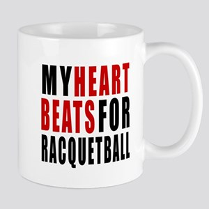 My Hear Beats For Racquetball Mug