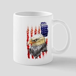 American Eagle Stars and Stripes Flag Mugs