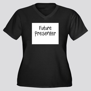 Future Presenter Women's Plus Size V-Neck Dark T-S
