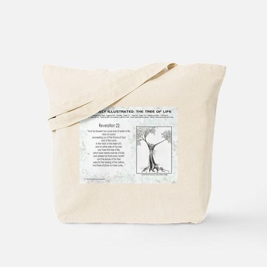 Tree Of Life Bible Scripture Tote Bag