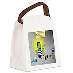 Bad Book for Frankenstein Canvas Lunch Bag