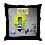 Bad Book for Frankenstein Throw Pillow