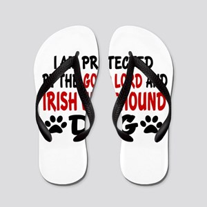 Protected By Irish Wolfhound Dog Flip Flops