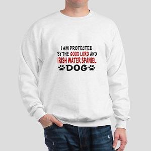 Protected By Irish Water spaniel Dog Sweatshirt