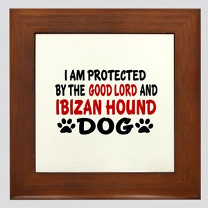 Protected By Ibizan Hound Dog Framed Tile