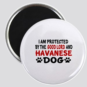 Protected By Havanese Dog Magnet