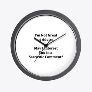 Sarcastic Comment Wall Clock