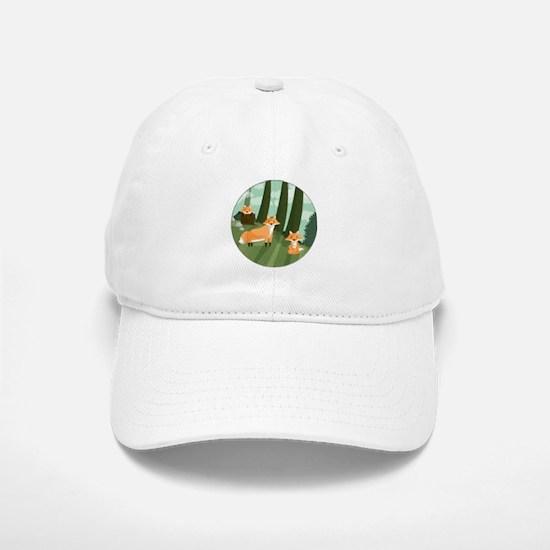 Woodland Foxes Baseball Baseball Cap