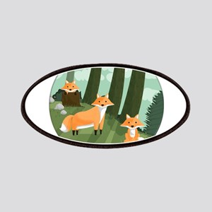 Woodland Foxes Patch