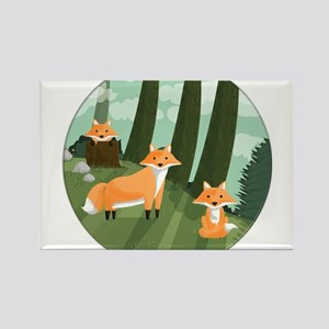 Woodland Foxes Magnets