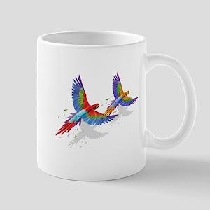 tROPICAL mACAWS in Flight. Mugs