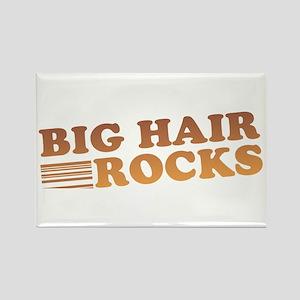 Big Hair Rocks 80's Rectangle Magnet