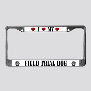 Field Trial Dog License Plate Frame