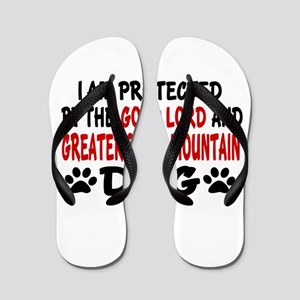 Protected By Greater Swiss Mountain Dog Flip Flops