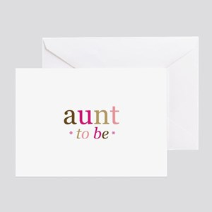 Aunt to be (fun) Greeting Card