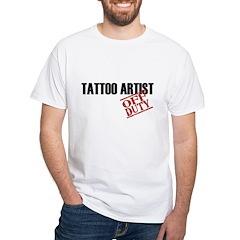 Off Duty Tattoo Artist White T-Shirt
