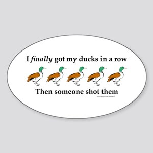 Ducks in a Row Oval Sticker