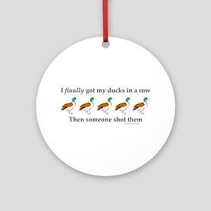 Ducks in a Row Ornament (Round)