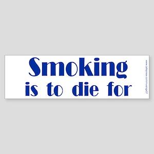Anti-Smoking Bumper Sticker