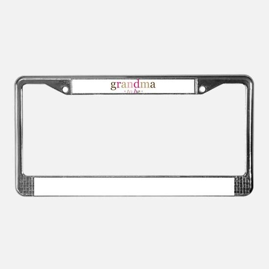 Grandma to be (fun) License Plate Frame