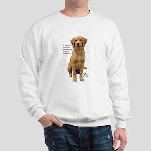 Smiling Golden Retriever Sweatshirt
