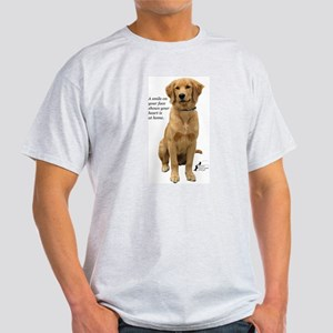 Smiling Golden Retriever Light T-Shirt