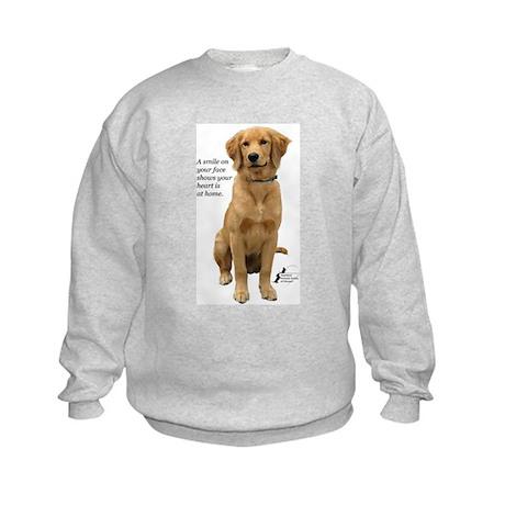 Smiling Golden Retriever Kids Sweatshirt