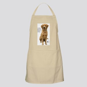 Smiling Golden Retriever BBQ Apron