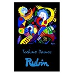 Large Poster<br>Techno Dance