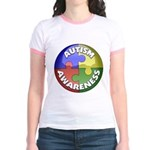 Autism Awareness Jewel Jr. Ringer T-Shirt