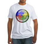 Autism Awareness Jewel Fitted T-Shirt