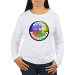 Autism Awareness Jewel Women's Long Sleeve T-Shirt