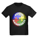 Autism Awareness Jewel Kids Dark T-Shirt