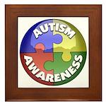 Autism Awareness Jewel Framed Tile