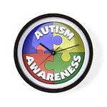Autism Awareness Jewel Wall Clock
