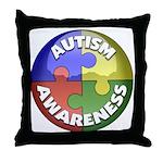 Autism Awareness Jewel Throw Pillow