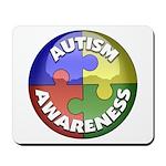Autism Awareness Jewel Mousepad