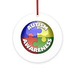 Autism Awareness Jewel Ornament (Round)